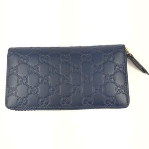 Gucci #410102 GG Guccissima Blue Leather Wallet